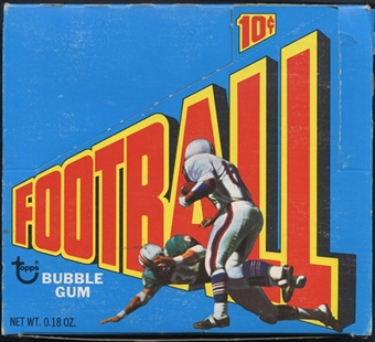 1973 Topps Football Wax Box (In 1972 Box and Wrappers)