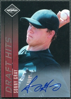 2011 Panini Limited Draft Hits Signatures #20 Sonny Gray Autograph /149