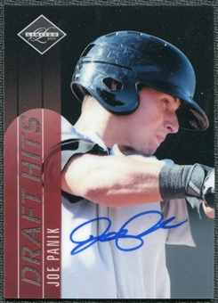 2011 Panini Limited Draft Hits Signatures #30 Joe Panik Autograph /299