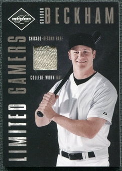2011 Panini Limited Gamers Caps #6 Gordon Beckham /99