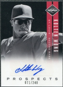 2011 Panini Limited Prospects Signatures #9 Kolten Wong Autograph /240