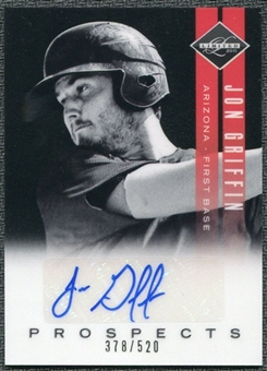 2011 Panini Limited Prospects Signatures #14 Jon Griffin Autograph /520