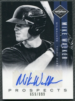 2011 Panini Limited Prospects Signatures #36 Mike Walker Autograph /899