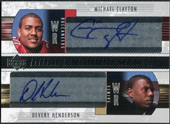 2004 Upper Deck Foundations Dual Endorsements #DECH Michael Clayton Devery Henderson Autograph