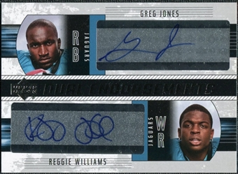 2004 Upper Deck Foundations Dual Endorsements #DEJW Reggie Williams WR Greg Jones Autograph