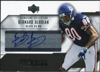 2004 Upper Deck UD Diamond Pro Sigs Signature Collection #SCBB Bernard Berrian Autograph