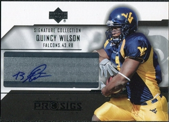 2004 Upper Deck UD Diamond Pro Sigs Signature Collection #SCQW Quincy Wilson Autograph