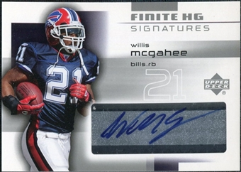 2004 Upper Deck Finite HG Signatures #FSWM Willis McGahee Autograph