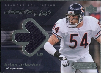 2004 Upper Deck UD Diamond All-Star Dean's List Jersey #DLBU Brian Urlacher
