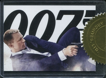 2012 James Bond 50th Anniversary Series 2 #CT1 SkyFall Movie Poster /777 issued as case