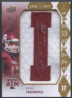 "2012 Upper Deck #RLRT Ryan Tannehill Rookie Lettermen ""I"" Patch Auto #33/35"