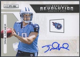2011 Rookies and Stars #14 Jake Locker Rookie Revolution Auto #09/10
