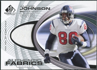 2004 Upper Deck SP Game Used Edition Authentic Fabric #AFAJ Andre Johnson