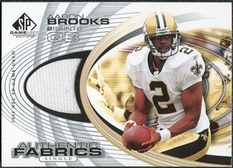 2004 Upper Deck SP Game Used Edition Authentic Fabric #AFBR Aaron Brooks
