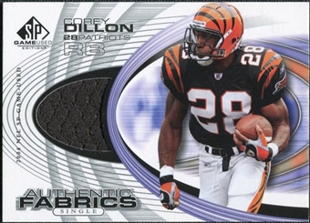 2004 Upper Deck SP Game Used Edition Authentic Fabric #AFCD Corey Dillon