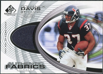 2004 Upper Deck SP Game Used Edition Authentic Fabric #AFDD Domanick Davis