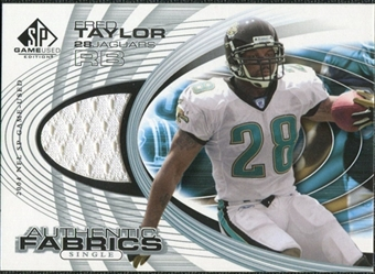 2004 Upper Deck SP Game Used Edition Authentic Fabric #AFFT Fred Taylor