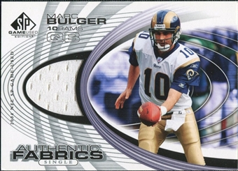 2004 Upper Deck SP Game Used Edition Authentic Fabric #AFMB Marc Bulger