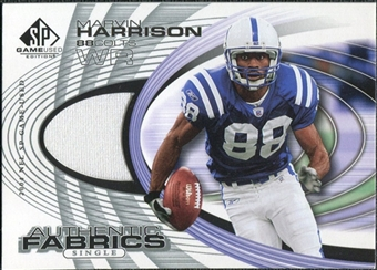 2004 Upper Deck SP Game Used Edition Authentic Fabric #AFMH Marvin Harrison