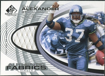 2004 Upper Deck SP Game Used Edition Authentic Fabric #AFSA Shaun Alexander