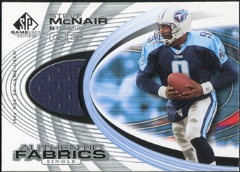 2004 Upper Deck SP Game Used Edition Authentic Fabric #AFSM Steve McNair