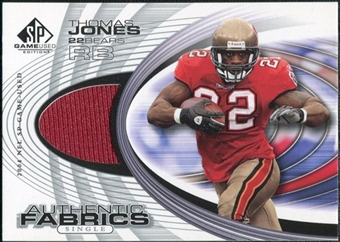 2004 Upper Deck SP Game Used Edition Authentic Fabric #AFTJ Thomas Jones