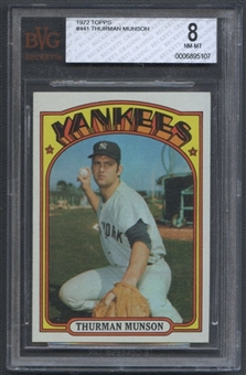 1972 Topps Baseball #441 Thurman Munson BVG 8 (NM-MT) *5107