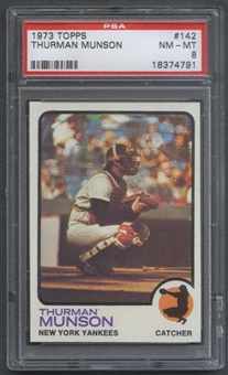 1973 Topps Baseball #142 Thurman Munson PSA 8 (NM-MT) *4791