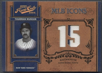 2004 Prime Cuts II #73 Thurman Munson MLB Icons Material Number Pants #18/50