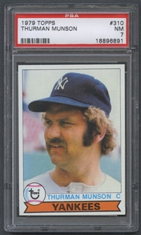 1979 Topps Baseball #310 Thurman Munson PSA 7 (NM) *6891
