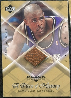 1999/00 Upper Deck Black Diamond A Piece of History #CW Chris Webber H