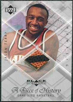 1999/00 Upper Deck Black Diamond A Piece of History #JT Jason Terry H/R
