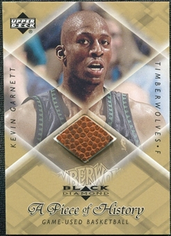 1999/00 Upper Deck Black Diamond A Piece of History #KG Kevin Garnett H