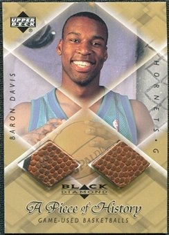 1999/00 Upper Deck Black Diamond A Piece of History Double #BD Baron Davis H