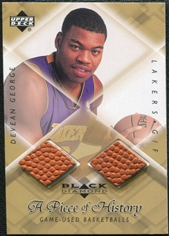 1999/00 Upper Deck Black Diamond A Piece of History Double #DG Devean George H