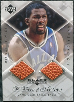 1999/00 Upper Deck Black Diamond A Piece of History Double #MF Michael Finley H/R