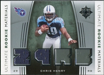 2007 Upper Deck Ultimate Collection Rookie Materials Silver #URMCH Chris Henry RB
