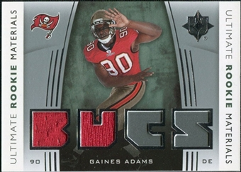 2007 Upper Deck Ultimate Collection Rookie Materials Silver #URMGA Gaines Adams