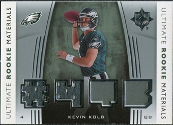 2007 Upper Deck Ultimate Collection Rookie Materials Silver #URMKK Kevin Kolb