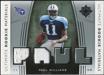 2007 Upper Deck Ultimate Collection Rookie Materials Silver #URMPW Paul Williams