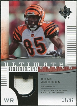 2007 Upper Deck Ultimate Collection Achievement Patches #UAPCJ Chad Johnson /99
