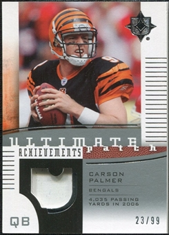 2007 Upper Deck Ultimate Collection Achievement Patches #UAPCP Carson Palmer /99