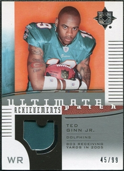 2007 Upper Deck Ultimate Collection Achievement Patches #UAPGI Ted Ginn Jr. /99