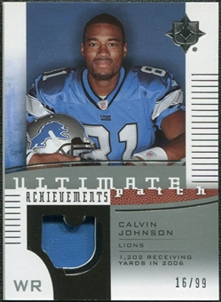2007 Upper Deck Ultimate Collection Achievement Patches #UAPJO Calvin Johnson /99