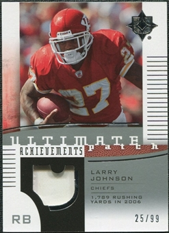 2007 Upper Deck Ultimate Collection Achievement Patches #UAPLJ Larry Johnson /99