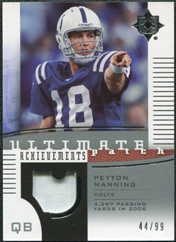 2007 Upper Deck Ultimate Collection Achievement Patches #UAPPM Peyton Manning /99