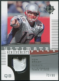 2007 Upper Deck Ultimate Collection Achievement Patches #UAPTB Tom Brady 72/99