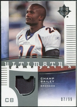 2007 Upper Deck Ultimate Collection Game Patches #UGPBA Champ Bailey /99