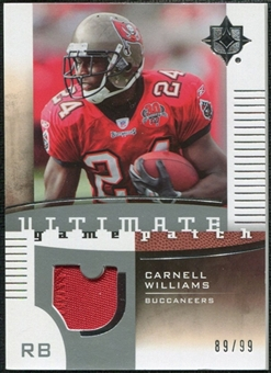 2007 Upper Deck Ultimate Collection Game Patches #UGPCW Cadillac Williams /99