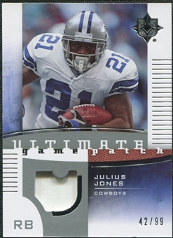2007 Upper Deck Ultimate Collection Game Patches #UGPJJ Julius Jones /99